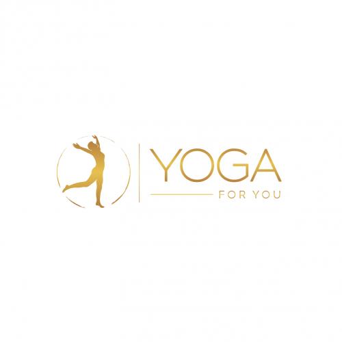 Logo-Design für modernes Yogastudio. Zeitgemässes Design.