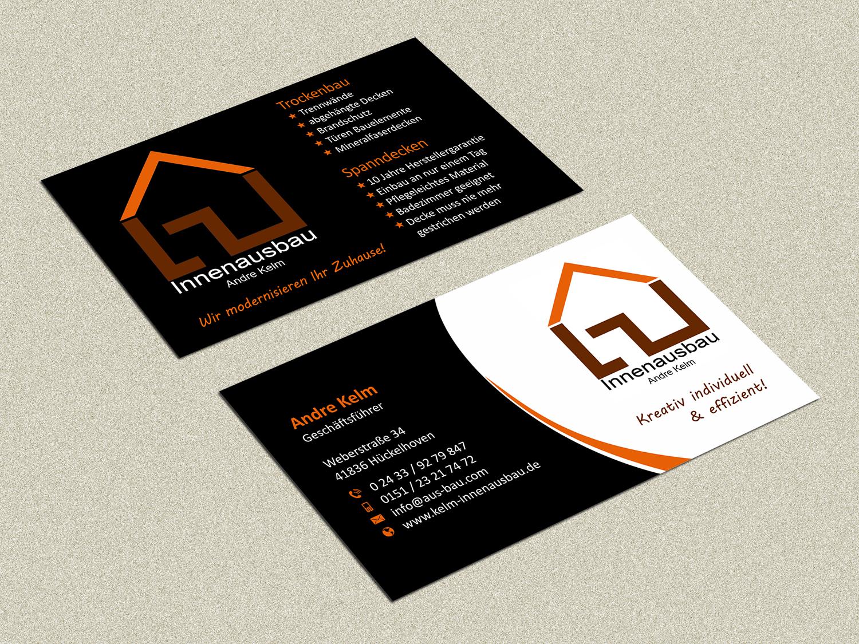 Firma Kelm Innenausbau Visitenkarten Design