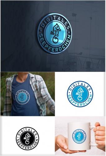 """Logo für Digitales Fortbildungabzeichen """"Digitales Seepferdchen"""""""