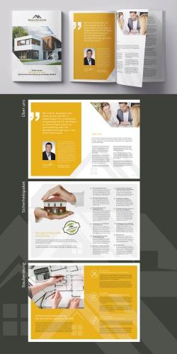 Broschüren-Design für Bauunternehmen