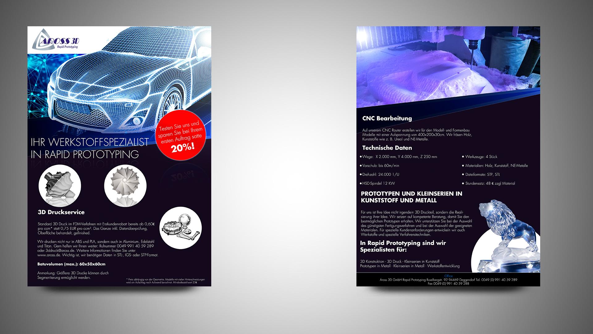 Flyer Design Für Hersteller Von Prototypen Und K Flyer
