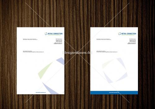 Retail Connection Briefbogen Visitenkarte Visitenkarten