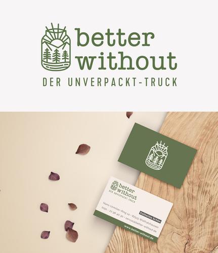 Logo & Visitenkarte für mobilen Unverpackt-Laden