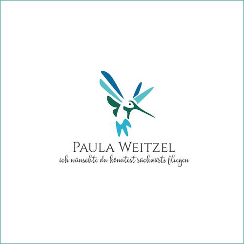 Logo-Design mit Illustration eines Kolibris für Trauerreden