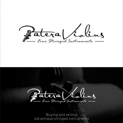 Logo-Design für Kauf und Verkauf von alten antiken Streichinstrumenten