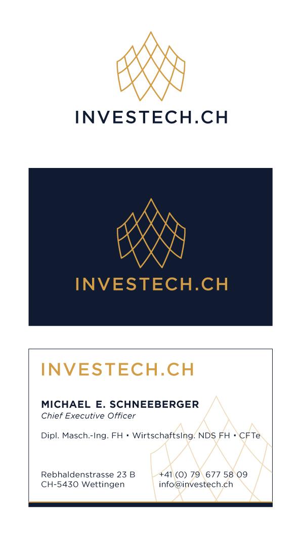 Investech Visitenkarten Design Designenlassen De