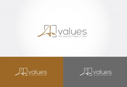 Logo-Design für Sparpläne in Form von Anlagen-Gold