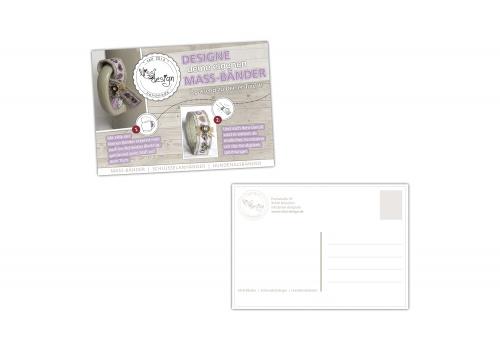 Werbeflyer/Werbepostkarte für kleines Einzelunternehmen