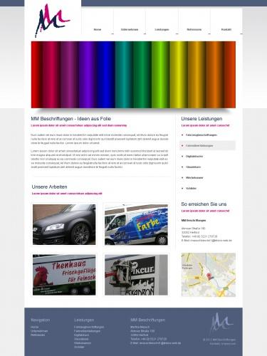 Webseite für Werbetechnik