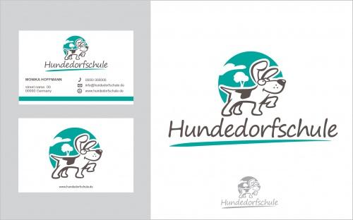 Logo & Visitenkarte für Hundedorfschule