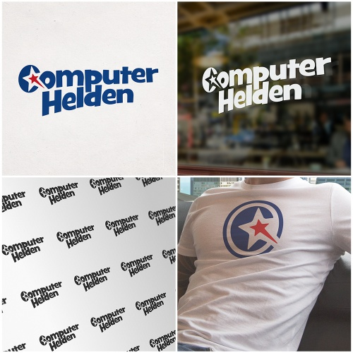 Logo-Design für Computerhelden