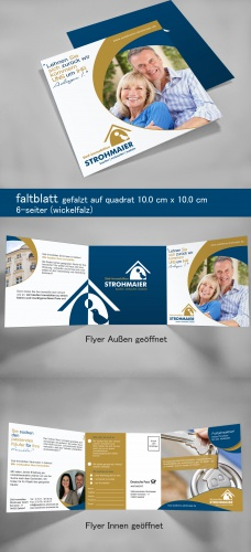 Flyer-Design für Immobilienmakler