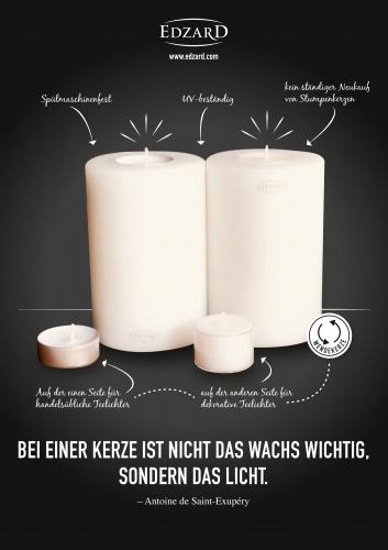 Plakat-Design für Händler von hochwertigen Bilderrahmen, Kerzenleuchtern und Windlichtern
