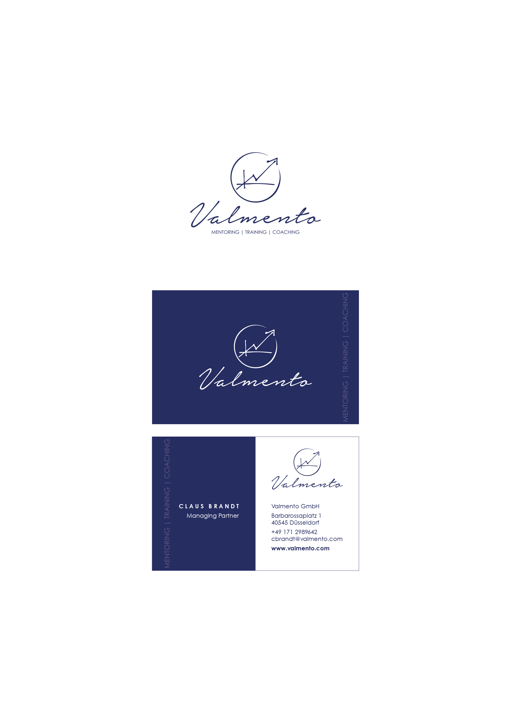 Elegantes Logo Visitenkarte Für Unternehme Logo